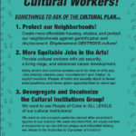 Cultural Plan Flyer // Dec 6 Workshop at Bric