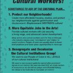 Cultural Plan Flyer // Dec 6 Workshop at Bric