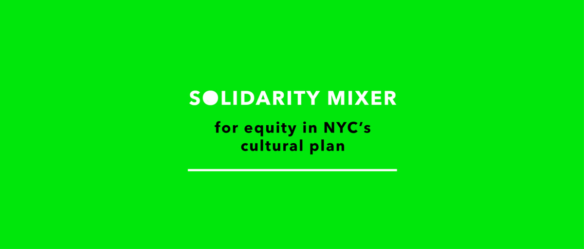 Solidarity Mixer at Cue Art Foundation. Event by Artists of Color Bloc and Michelada Think-Tank