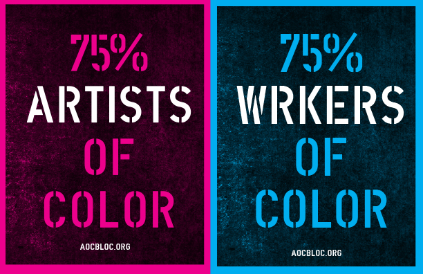 75% Artists of Color 75% Workers of Color