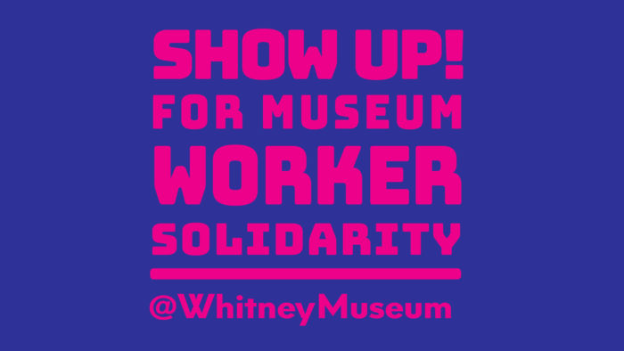SHOW UP! In Solidarity w/Whitney Workers